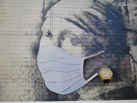 Banksy, Girl With the Pierced Eardrum, COVID-19