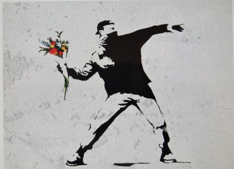 The Flower Thrower, Love is in the Air, Banksy, Banksy Most Wanted, Bethlehem, West Bank