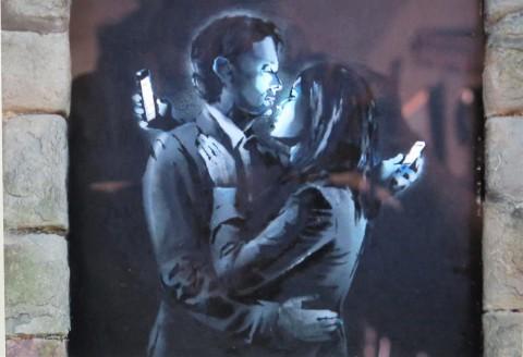 Banksy, Bristol, UK, Phone Lovers