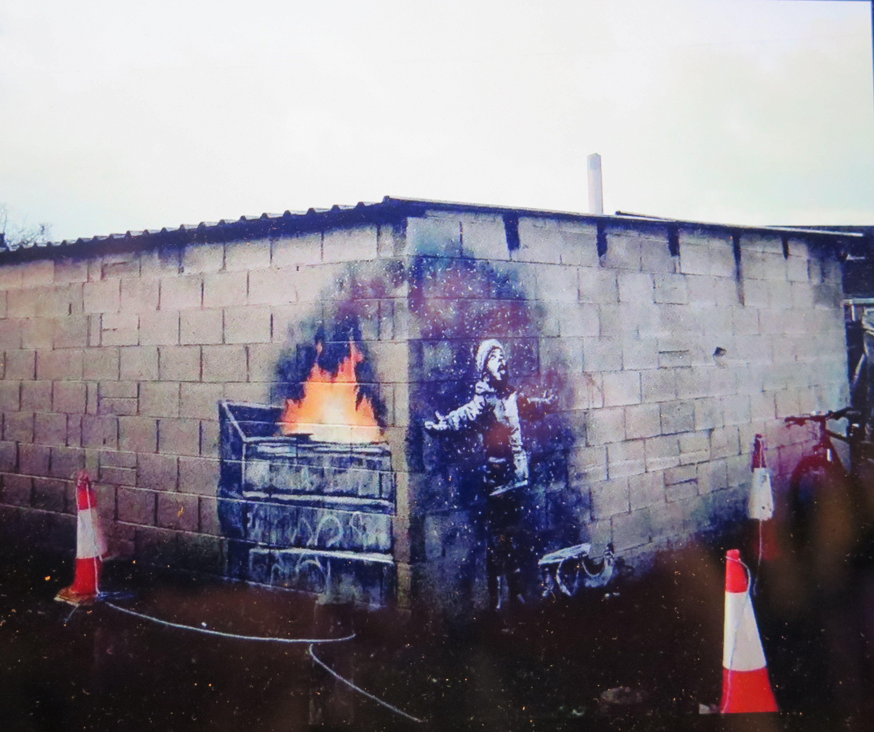 Seasons Greetings, Banksy, Port Talbot, Wales, UK, John Brandler, Banksy Most Wanted, Aurélia Rouvier and Seamus Haley