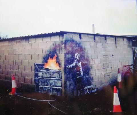 Aurélia Rouvier, Seamus Haley,Seasons Greetings, Banksy, Port Talbot, Wales, UK, John Brandler, Banksy Most Wanted, Aurélia Rouvier and Seamus Haley