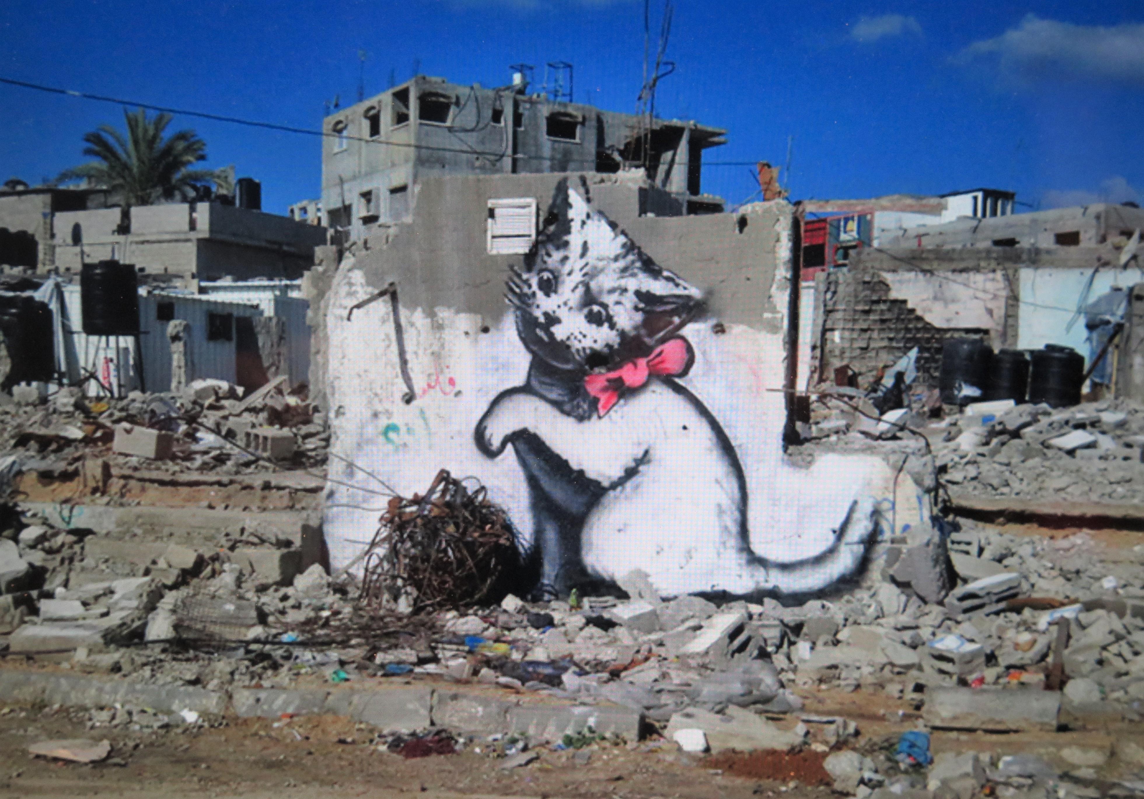 Banksy Most Wanted, Banksy Kitten in Gaza