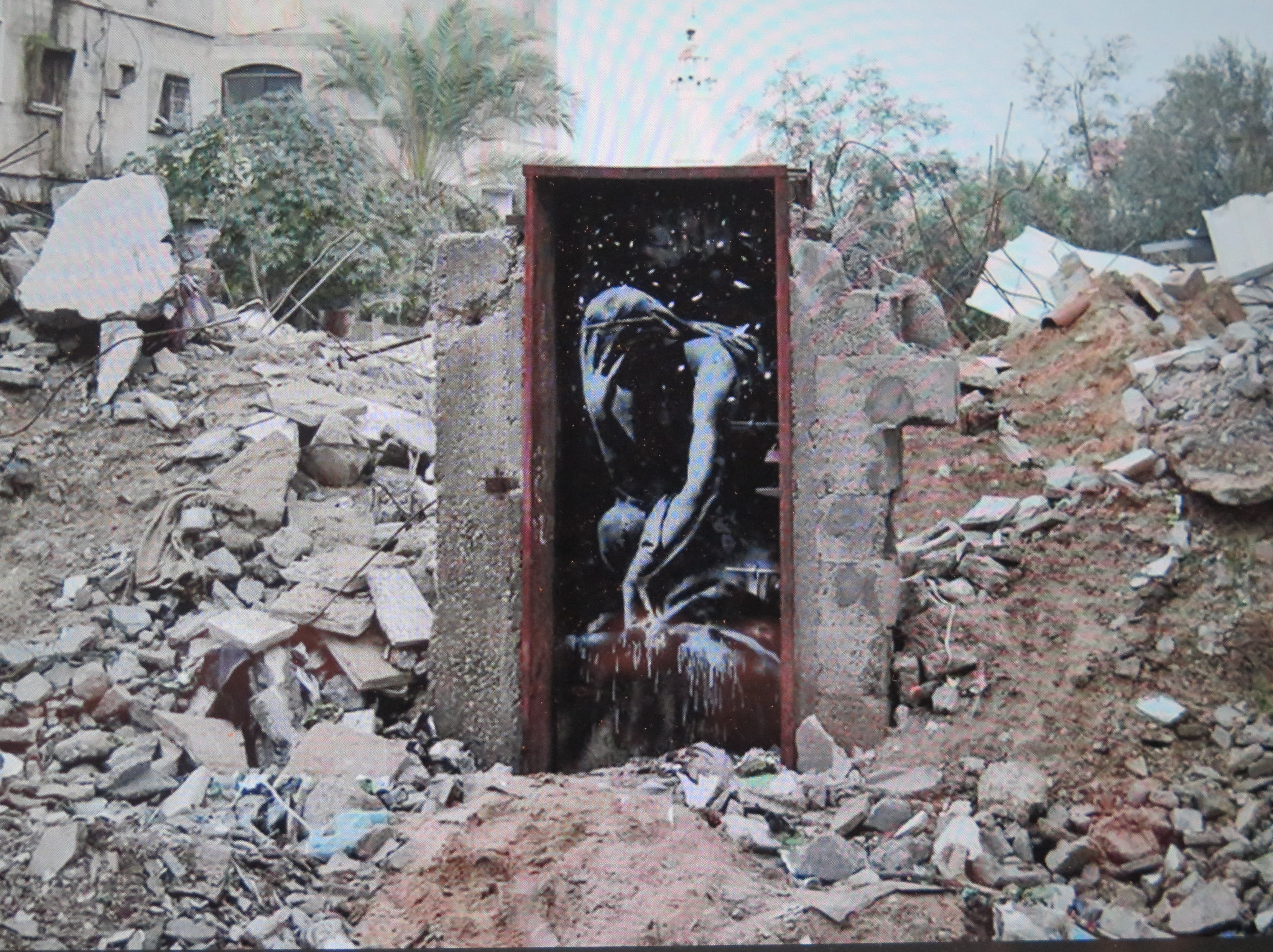 Banksy's, Rodin, West Bank