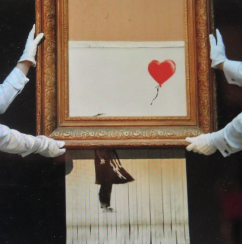 Girl With Balloon, Banksy Most Wanted, Banksy, Sotheby's, Girl With Balloon Shredded