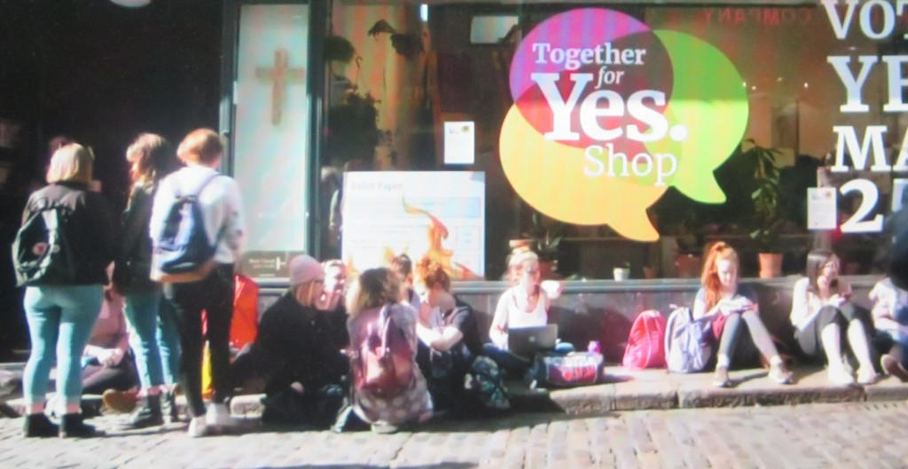 "Vote ""Yes"" to Repeal the 8th, 'The 8th,'  directed by Aideen Kane, Lucy Kennedy,  Maeve O'Boyle, Athena Film Festival (courtesy of the film)"