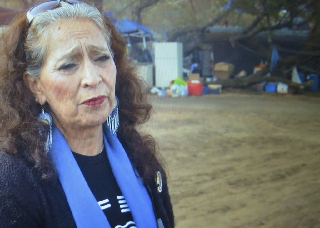 LaDonna Brave Bull Allard in 'End of The Line: The Women of Standing Rock,' directed by Shannon Kring, Athena Film Festival (courtesy of the film)