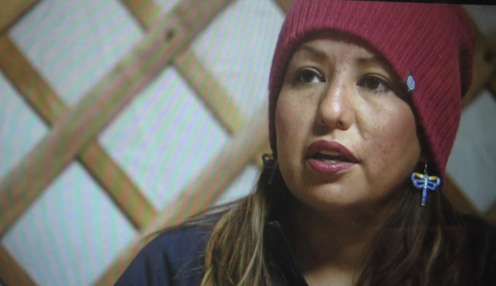 Wasté Win Young, water protector in End of The Line: The Women of Standing Rock,' directed by Shannon Kring Athena Film Festival (courtesy of the film)