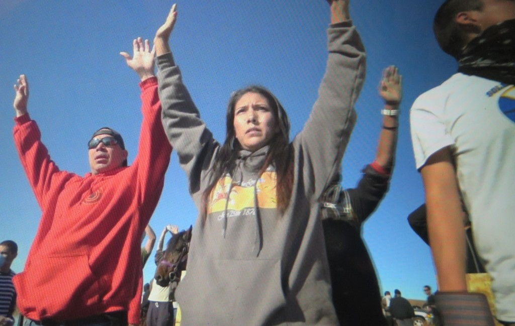 The water protectors had no weapons but prayer and resolve. 'End of the Line: The Women of Standing Rock,' Athena Film Festival (courtesy of the film)