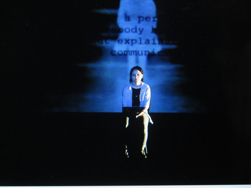 Anne O'Riordan in 'Ghosting,' presented by Theatre Royal Waterford, Thrown Shapes and Irish Repertory Theatre (courtesy of the theater)